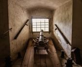 Old cannon in castle — Stock Photo