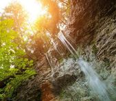 Waterfall in a forest in Slovak Paradise, Slovakia — Stock Photo