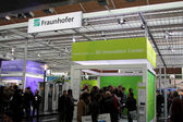 HANNOVER, GERMANY - MARCH 10: stand of Fraunhover on March 10, 2012 at CEBI — Stock Photo