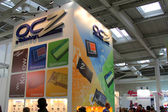 HANNOVER - MARCH 10: stand of OCZ Technology on March 10, 2012 at CEBI — Stock Photo