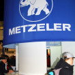 HAMBURG, GERMANY - JANUARY 26: Stand of Metzeler  on January 26, 2013 at HMT (Hamburger Motorrad Tage) expo, Hamburg, Germany. HMT is a large motorcycle expo — Lizenzfreies Foto