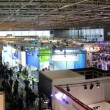 HANNOVER - MARCH 9: panoramic view of Hall 13 on March 9, 2013 at CEBIT computer expo, Hannover, Germany. CeBIT is the world's largest computer expo. — Stock Photo