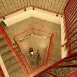 The stair in the stairwell — Stockfoto