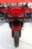 HAMBURG, GERMANY - FEBRUARY 22: The Honda motorcycle on February 22, 2014 at HMT (Hamburger Motorrad Tage) expo, Hamburg, Germany. HMT is a large motorcycle expo — Stock Photo