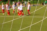 The football goal net — Stock Photo