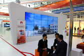 HANNOVER, GERMANY - MARCH 13: The Stand of Huawei on March 13, 2014 at CEBIT computer expo, Hannover, Germany. CeBIT is the world's largest computer expo — Stock Photo