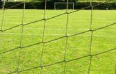 The football goal net — Stock Photo