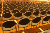 Rows of seats in the concert hall — Stock Photo