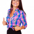 Young woman is a great mood — Stock Photo #13184230