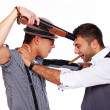Stock Photo: Two men armed with shotguns