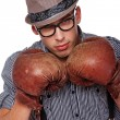 A stylish boxer — Stock Photo