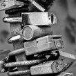 Portrait of of metal locks — Stock Photo