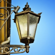 Portrait of lantern in night town — Stock Photo