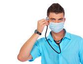 Um jovem estudante de medicina — Foto Stock