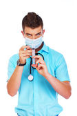 A young student of medicine — Stock Photo