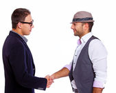 Two men shaking hands — Stock Photo