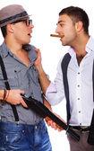2 人の強盗を戦っています。 — ストック写真
