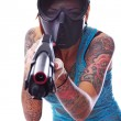 Punk girl with shotgun — Stock Photo #13776904