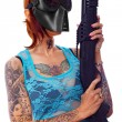 Armed punk girl — Stock Photo #13776909