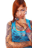A young girl with tattoos — Stock Photo