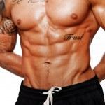 Portrait of handsome bodybuilder torso — Stock Photo #13977274
