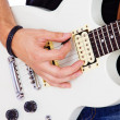 Portrait of guitar — Stock Photo