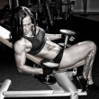 Stock Photo: Image of muscle women