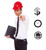 Een jonge bouwer — Stockfoto
