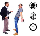 Two men are having a talk — Stock Photo