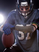 An American fooball player — Stock Photo