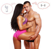 Hot couple is thinking about different things — Stock Photo