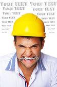 Retrato de hombre que roe una clave — Foto de Stock