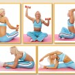 Trainer is demonstrating some exercises with dumbbells — Stock Photo #21675147