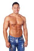 Image of half naked man — Stock Photo