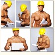 Hot worker is thinking while writing something — Stock Photo