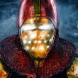 Stock Photo: Noble knight in personification of iron man