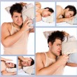 Man who woke up too early — Stock Photo