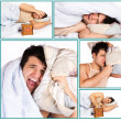 Man overslept something important - Stock Photo