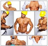 Gorące pracownika w unofirm wiertła — Zdjęcie stockowe