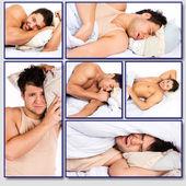 Adorable man is having sweet dreams — Stock Photo
