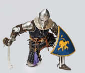 Portrait of brave medieval knight — Stock Photo