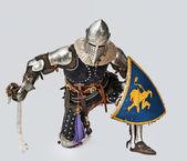 Portrait of brave medieval knight — Stock Photo