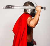 Mottled picture of faceless barbarian — Stock Photo