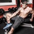 Sportsman is relaxing after the hard workout — Stock Photo