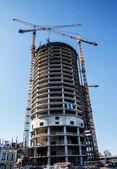 Building construction in daylight — Foto Stock