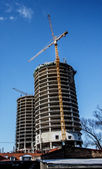 Image of reconstructing building at the daylight — Foto Stock