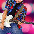 Young full of enthusiasm guitar player — Stock Photo