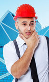 Young businessman who have some thoughts about something — Stock Photo