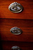 Three lockers of antique cupboard — Stock Photo