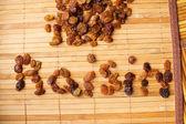 A little bit of raisins on the table — Stock Photo